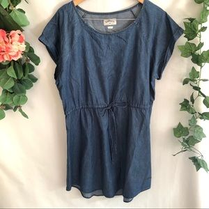 LEE COOPER Blue Light Denim Short Sleeve Dress 16